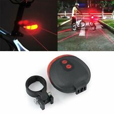 Bike 2Laser+5LED Flashing Lamp Rear Cycling Bicycle Tail Safety Warning Light