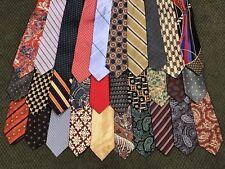 Lot of 30 Mostly Designer Names Mens Neckties