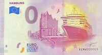 BILLET 0  EURO HAMBURG ALLEMAGNE 2020 NUMERO 002