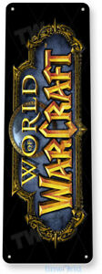 World of Warcraft Arcade Sign, Classic Arcade Game Marquee Tin Sign A952