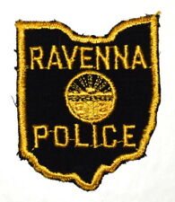 RAVENNA OHIO OH Sheriff Police Patch – STATE SHAPE – STATE SEAL VINTAGE OLD MESH