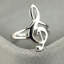 Mode Silber Farbe Musik Musik Note Ring Violinschlüssel Ring Schmuck GeschenkPPT