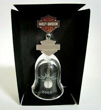 HARLEY DAVIDSON 2005 COLLECTOR CRYSTAL BELL HOLIDAY ORNAMENT CHRISTMAS W/ BOX