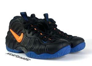 Nike Air Foamposite Pro Knicks 624041-010 New Shoes Orange Black Mens Size 10.5