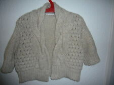 Promoc Cream Cable Knit Shrug size M
