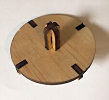 1x Wooden Spinning Top Corporate Advertising Baby Kids or Adults Toy 4.5cm w