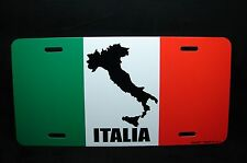 ITALIA FLAG METAL NOVELTY CAR LICENSE PLATE TAG  ITALY LICENSE PLATE
