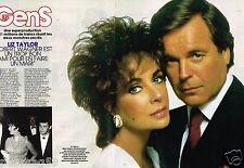 Coupure de Presse Clipping 1986 (4 pages) Liz taylor et Robert Wagner