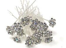 LOT 20PCS wedding Bridal Flower Crystal Hair Pins Bobby Pins.