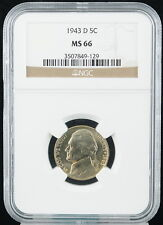 1943D United States 5C Nickel Grades NGC MS 66 Five Cents C25506