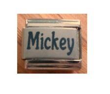 9mm Classic Size Italian Charms Names Name Mickey