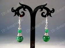 NEW! Fashion Unique tibetan tibet silver Malachite green beads Earrings