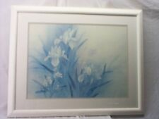 LENA LILY, BEAUTIFUL,FLOWERS ART PROFESSIONALLY FRAMED & MATTED