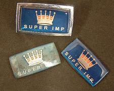 Pair Hillman Imp Super Side Badge Inserts- Not the chrome bezel, just inserts