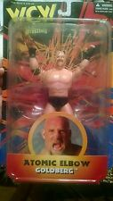 1998 WCW WWF WWE Gold Autographed Bill Goldberg Atomic Elbow Action Figure