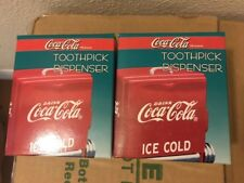 1 NEW VINTAGE Coca Cola Vending Machine Toothpick Holder Dispenser Coke