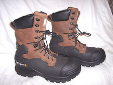 "10"" Insulated Composite Toe Pac Boot Sz 13 Carhartt Work Boot Waterproof $230"