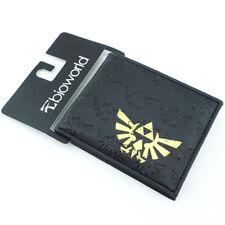 The Legend of Zelda Wallet Winged Triforce Logo Bifold Purse Black Handbag Gift