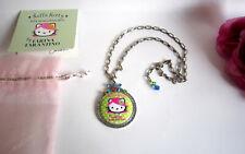 Auth TARINA TARANTINO Hello Kitty Swarovski crystal necklace. Mint.