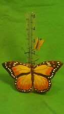 Decorative Butterfly Rain Gage, Functional Beauty, New. Monarch colors