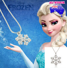 Charm Princess Crystal Snowflake Frozen Silver Necklace Pendant Gift