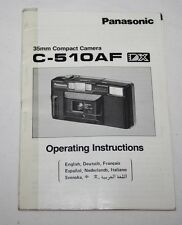 Panasonic c-510af Fotocamera-Manuale dell'utente