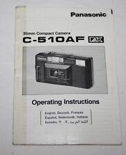 Panasonic C-510AF - cámara manual de usuario
