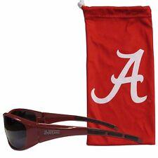 Alabama Crimson Tide Wrap Sunglasses With Microfiber Bag UV 400 Protection NCAA