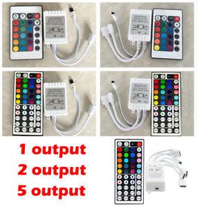1/2/5PCS 44 24 Key IR Remote Controller For RGB 3528 5050 LED Light Strip 12V UK