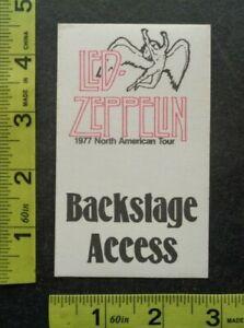 LED ZEPPELIN,Original Vintage cloth Backstage pass,1977 North American Tour