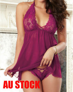 Sexy Lingerie Chemise Babydoll Robe Gown Plus Size 8 10 12 14 16 18 K214