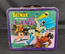 VINTAGE 1966 BATMAN AND ROBIN METAL LUNCH BOX BY ALADDIN