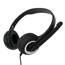 PC Headset with Microphone & Volume Control for Skype PC Computer 2m Long Cord
