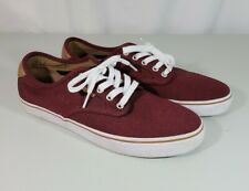 Men's Vans Ultracush Pro low Sneakers Shoes Dark Red Burgundy Canvas Lace up 9.5