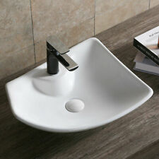 Design Aufsatz Waschbecken Keramik Waschschale +Lotus Effekt weiß 485*385*140 mm