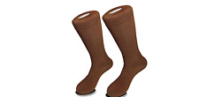 Cognac Brown Cotton Poly Dress Socks Suit Tuxedo Dress Sock Shoe Size 7-13