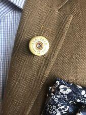 12 Bore Cartridge Lapel Pin Tie Tack Brooch