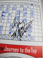 Al The Mad Hungarian Hrabosky Cardinals 1999 Autograph Signed Baseball Scorecard