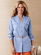 PENDLETON Stitched BUTTON DOWN Up COTTON TUNIC Long DRESS SHIRT Women size SMALL