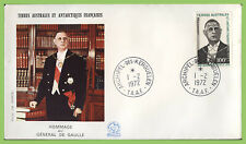 French Antarctic 1972 100f First Death Anniv General De Gaulle First Day Cover