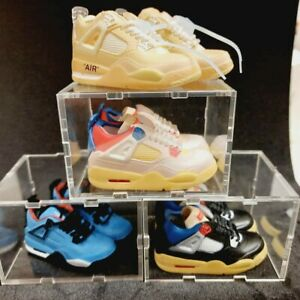 Mini Keychain Sneakers Trainers Air Force Jordan Yeezy 3 pairs & 3 clear boxes