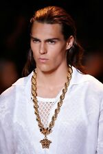 SOLD OUT!!! New Versace Runway 24K Gold Plated Medusa Pendant Chain Necklace