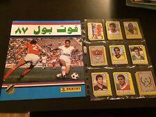 PANINI FOOTBALL EGYPT 1987 COMPLETE STICKERS SET + EMPTY ALBUM RARE