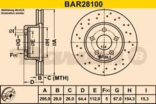 2x Bremsscheibe BARUM BAR28100 vorne für MERCEDES-BENZ