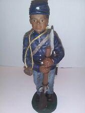 Sarahs Attic - Civil War Soldier - African American Figurine
