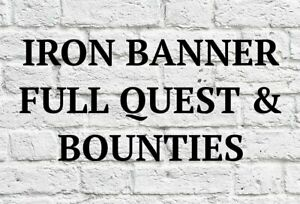 Iron Banner Bounties&Quest | PS4 / PS5