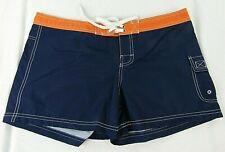 Detroit Tigers Women's Black & Orange Embroidered Board Shorts MLB