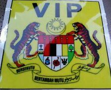 Malaysia VIP VVIP Yellow Windscreen Sticker