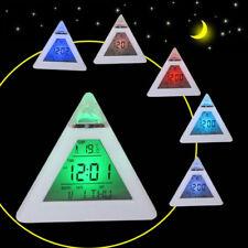 NEW Creative LED Digital Alarm Clock Night Light Thermometer Display Mirror Lamp