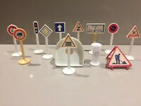 Vintage French RARE! Toy Road Sign Bundle 1:43? Jouet Minialuxe Norev Job Lot